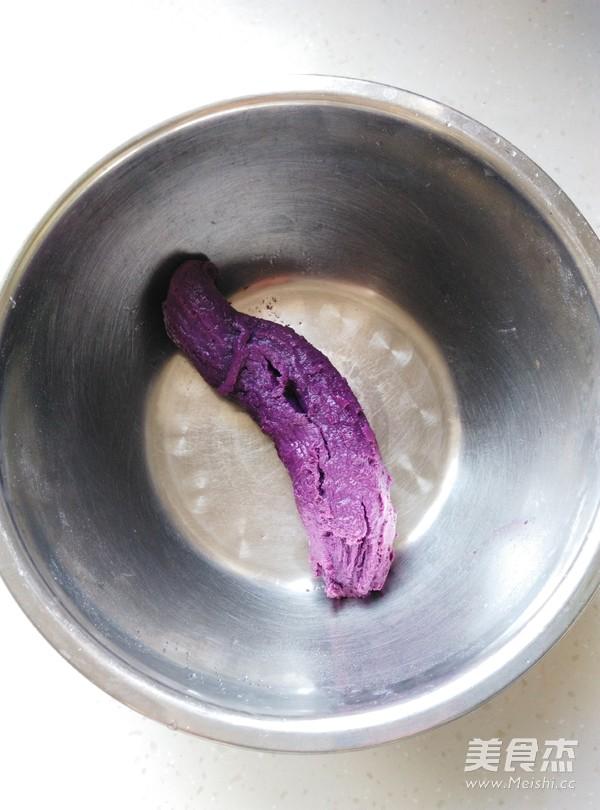 豆沙紫薯糯米饼的做法大全