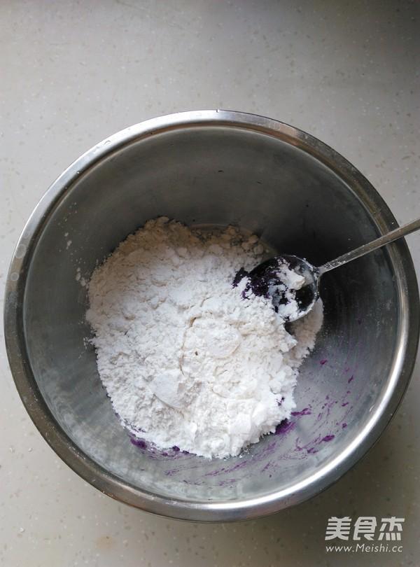 豆沙紫薯糯米饼的家常做法