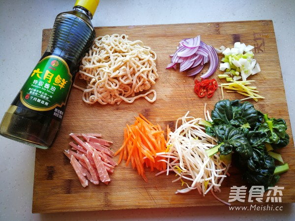 青菜肉丝炒面的做法大全