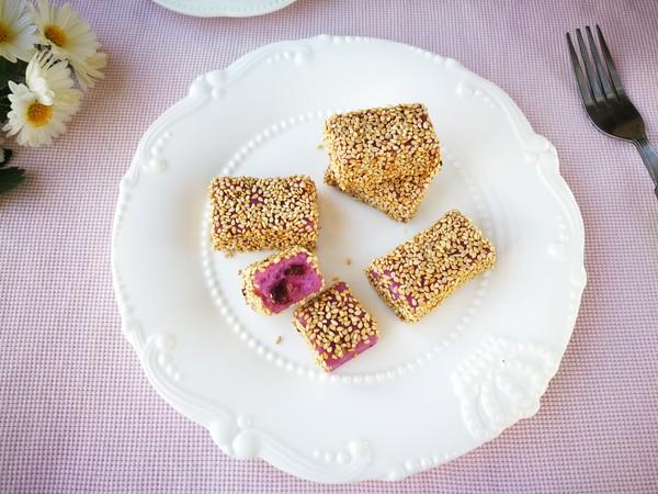 紫薯芝麻糕成品图