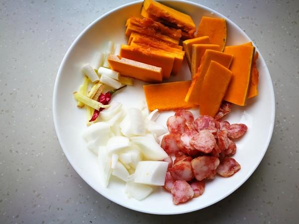 腊肠南瓜饭的做法图解