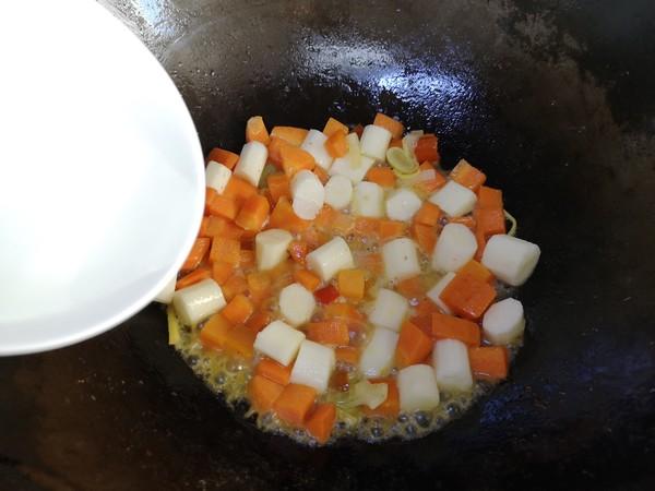 【三阳开泰】胡萝卜羊肉盖浇饭怎么做