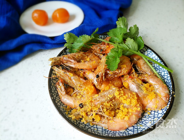 咸蛋黄焗虾怎么做