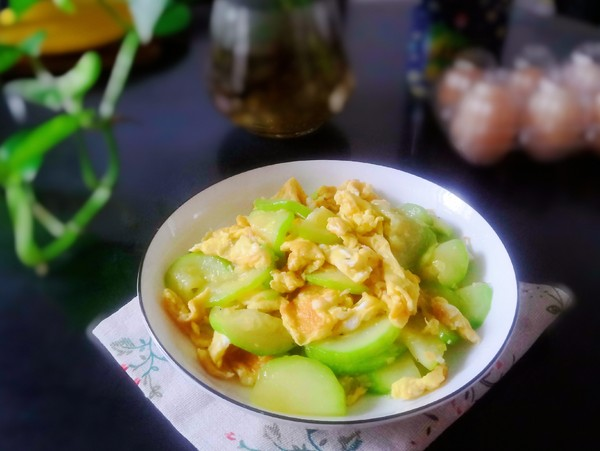 西葫芦炒鸡蛋成品图