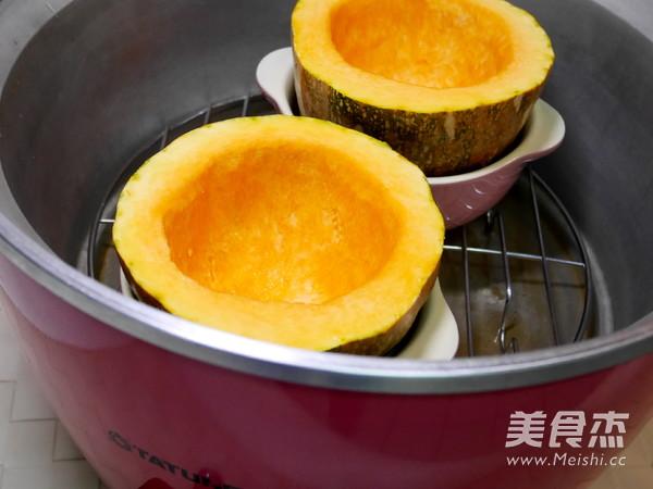 南瓜海鲜蒸蛋的简单做法