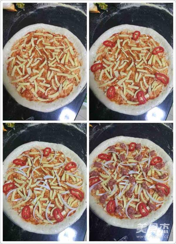 自制香肠披萨怎么煮