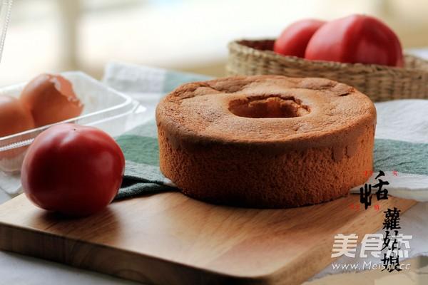 番茄酱戚风蛋糕成品图
