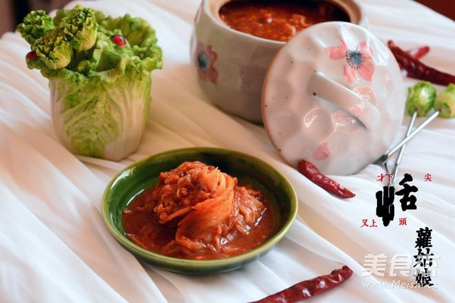 韩式泡菜成品图