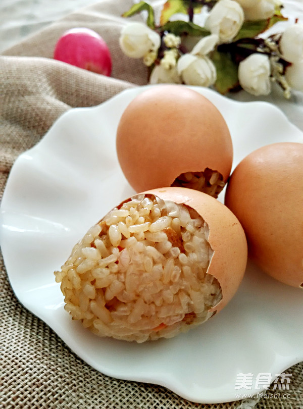 蒸糯米鸡蛋饭怎么做