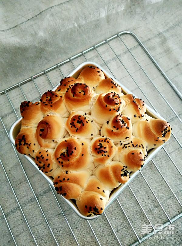 花朵小面包的制作