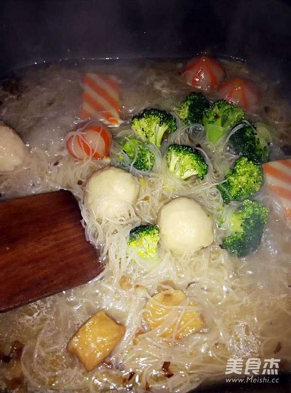 葱香米粉汤怎么吃