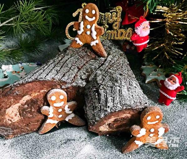 雪地里的树桩蛋糕怎样做