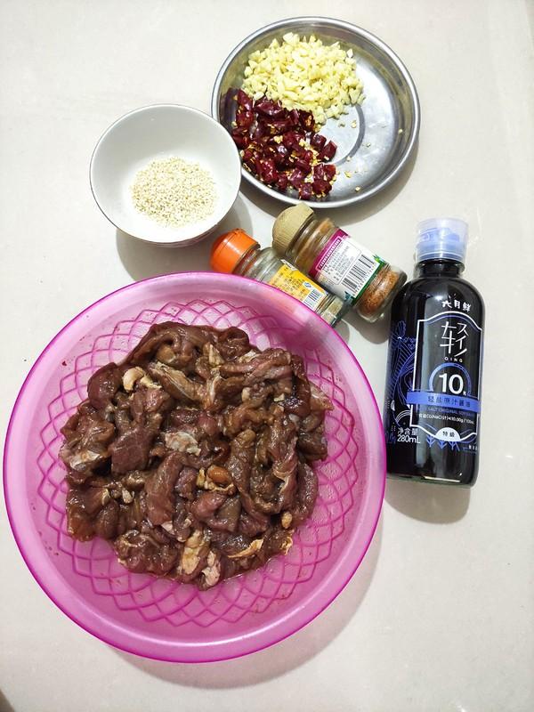 香辣干煸牛肉的步骤