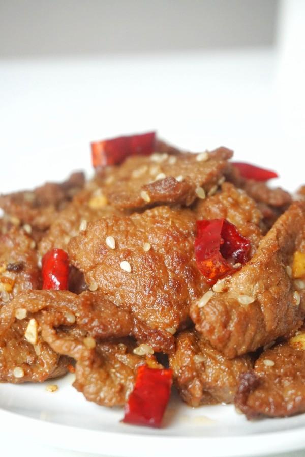 香辣干煸牛肉成品图