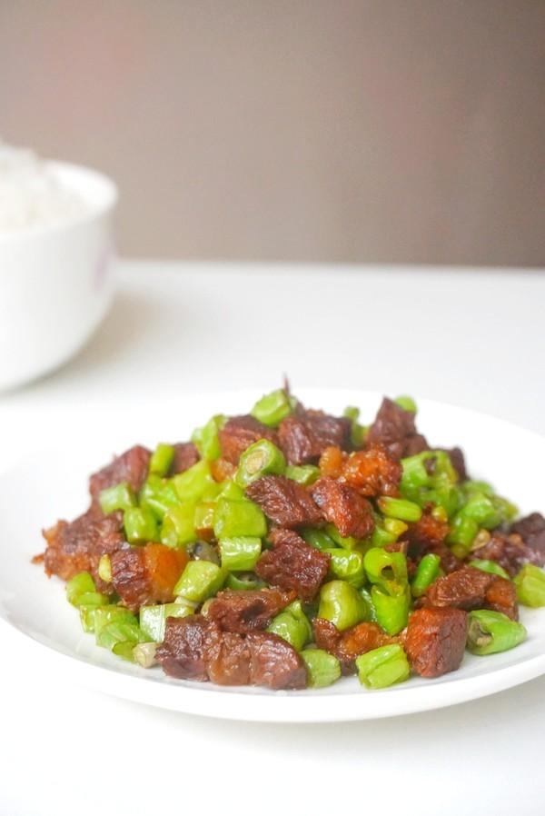 豆角炒牛肉成品图