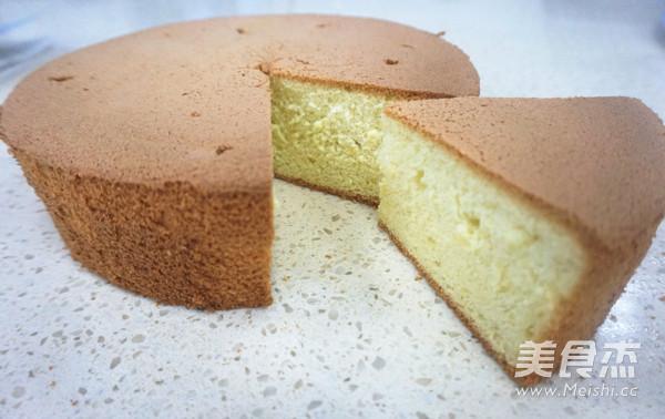 8寸戚风蛋糕成品图