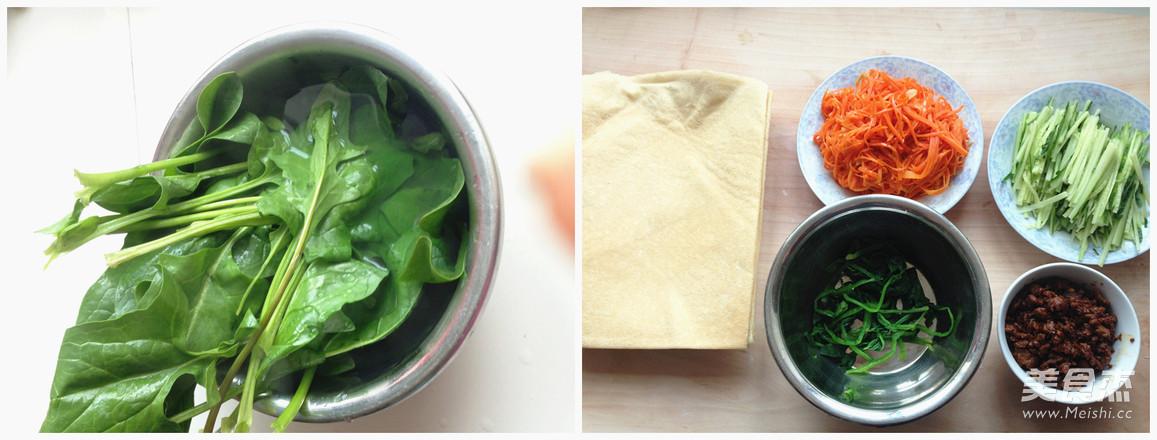 营养蔬菜卷的家常做法