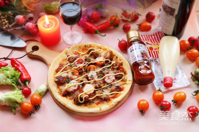 丘比-香辣鸡肉pizza成品图