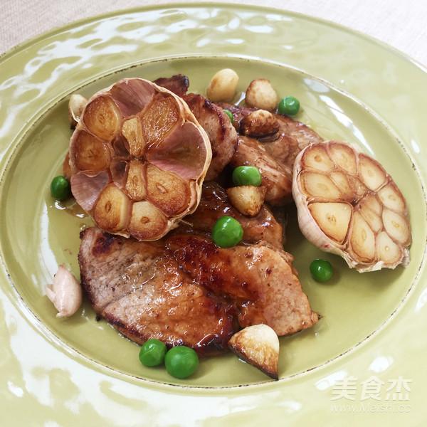 丘比-蒜香煎猪排成品图
