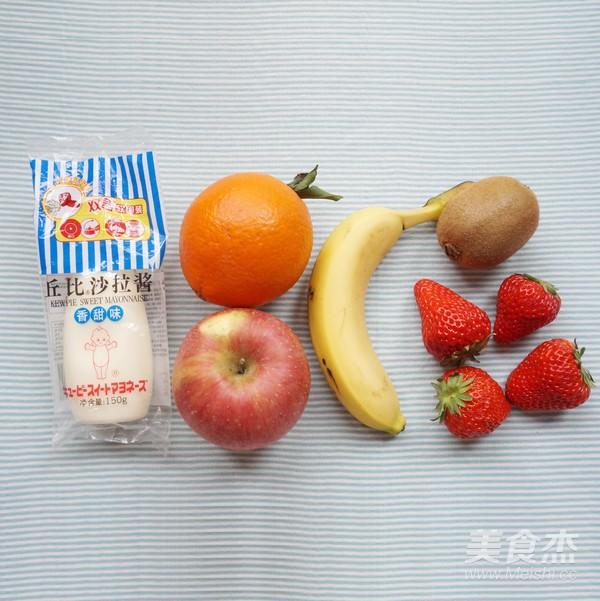 丘比-水果沙拉的步骤