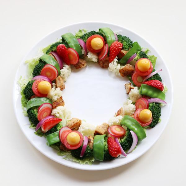 圣诞花环-丘比沙拉汁的步骤