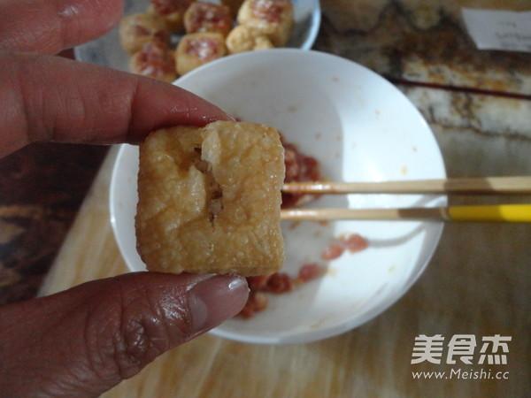 豆腐泡酿肉的做法图解