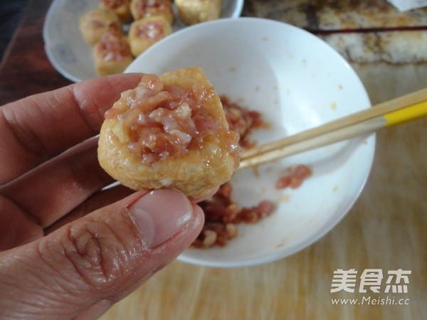 豆腐泡酿肉的家常做法
