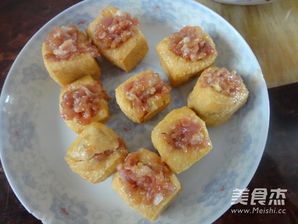 豆腐泡酿肉的简单做法
