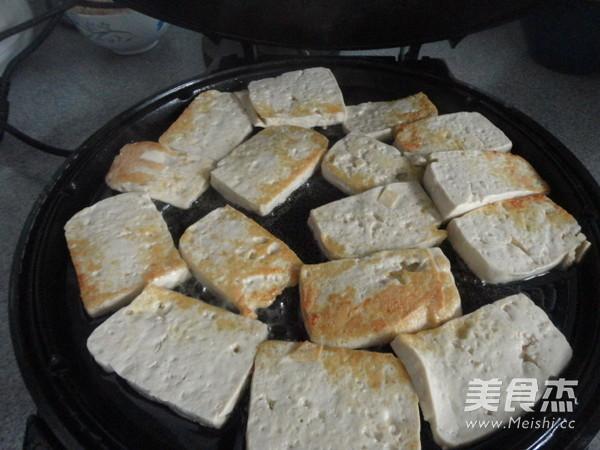 豆腐炒菜心的做法图解