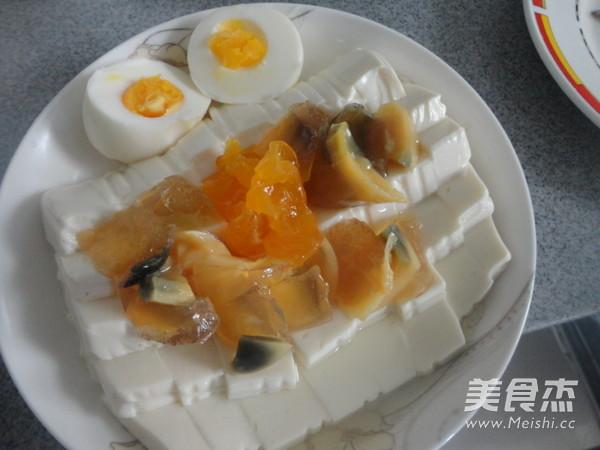 双蛋拌豆腐怎么吃