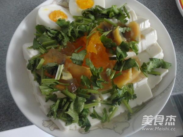双蛋拌豆腐怎么做