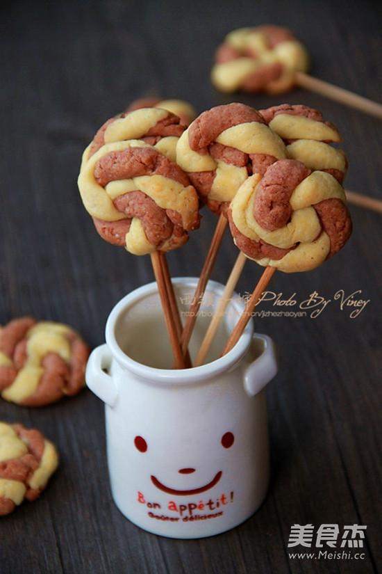 棒棒糖饼干成品图