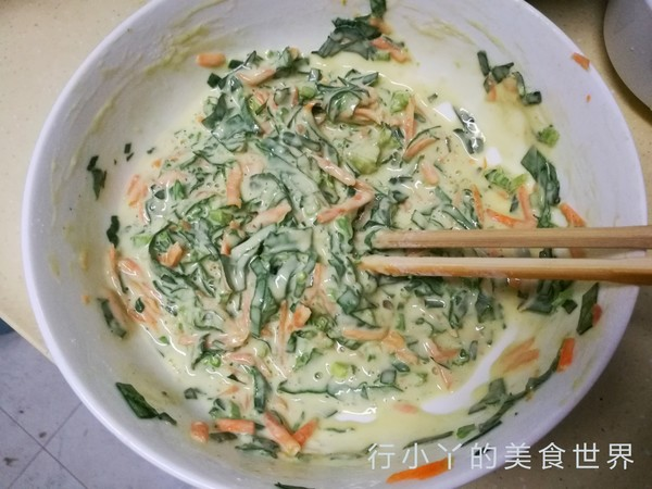 菠菜胡萝卜饼的简单做法