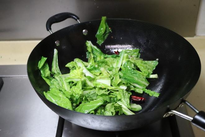 炝炒小白菜的简单做法