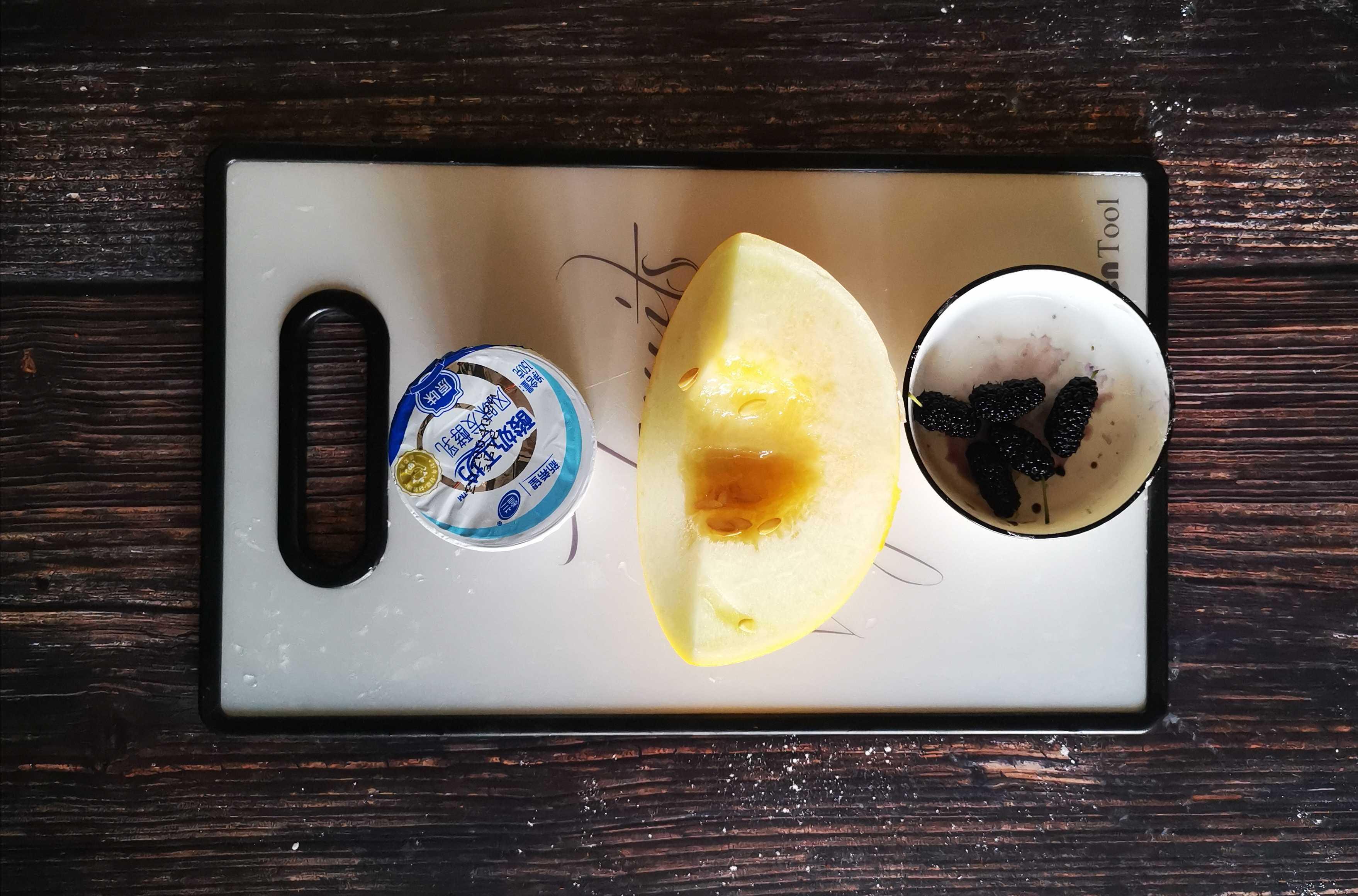 蜜瓜桑椹酸奶奶昔的做法大全
