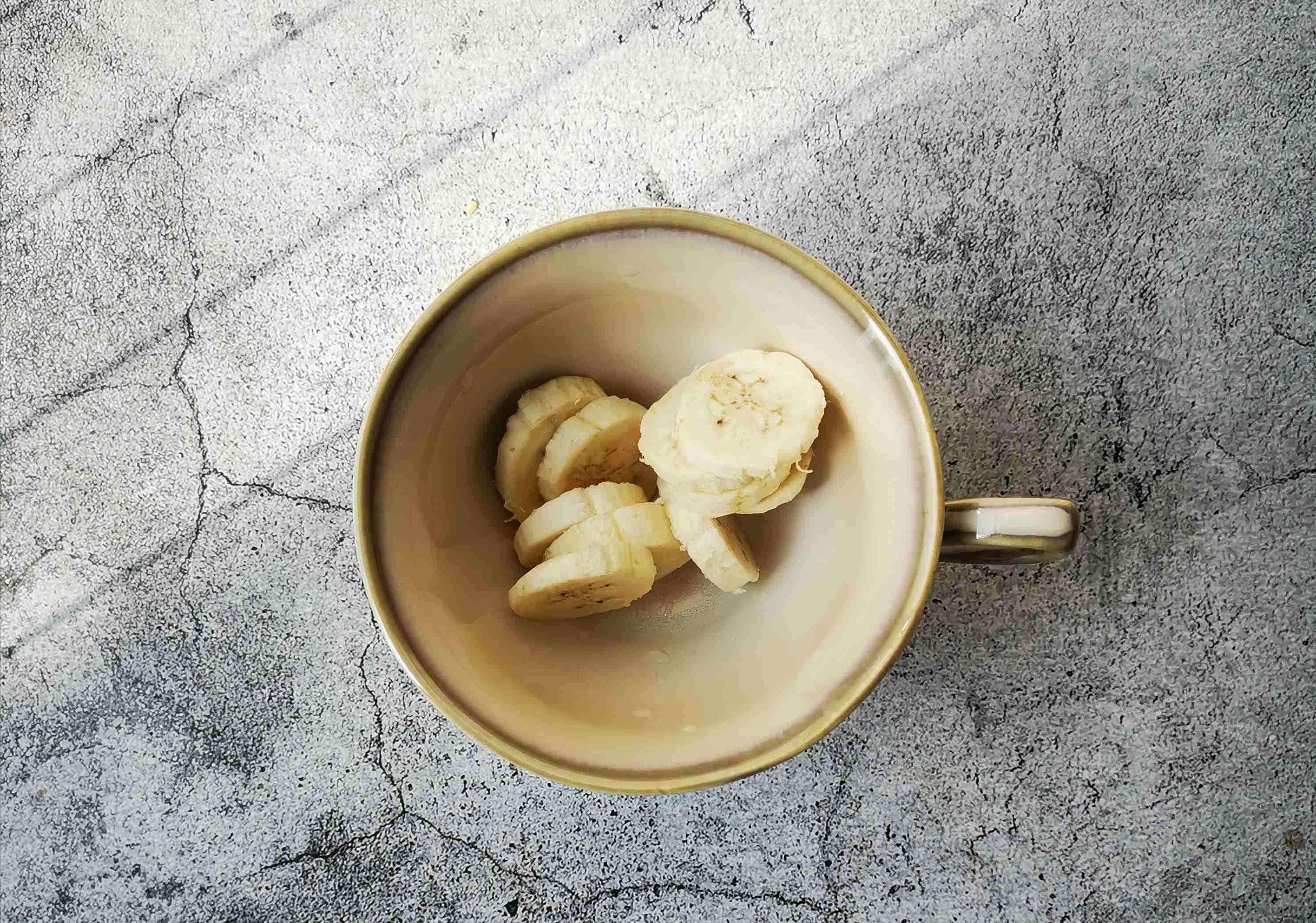 芭蕉酸奶拌麦片的家常做法