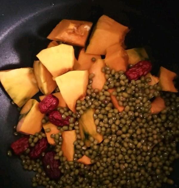红糖南瓜绿豆水的做法图解