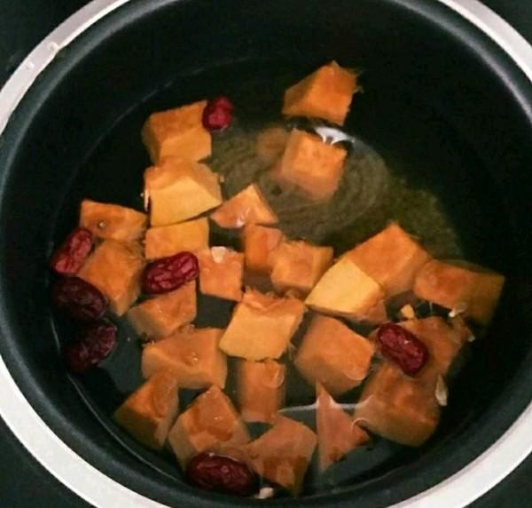 红糖南瓜绿豆水的家常做法