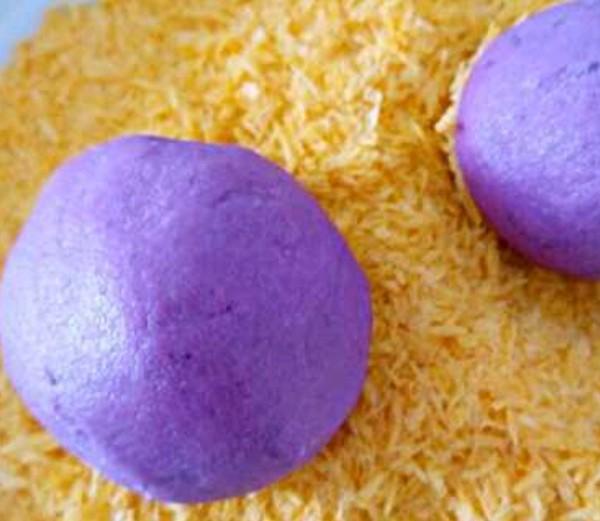 面包糠烤紫薯的简单做法