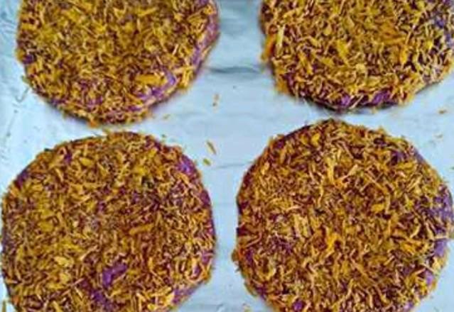面包糠烤紫薯怎么吃