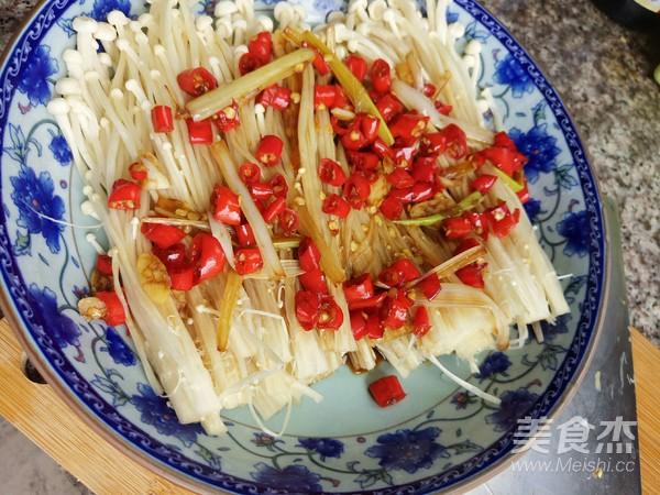 剁椒金针菇怎么吃