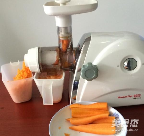 维生素A补充佳饮————胡萝卜汁的步骤