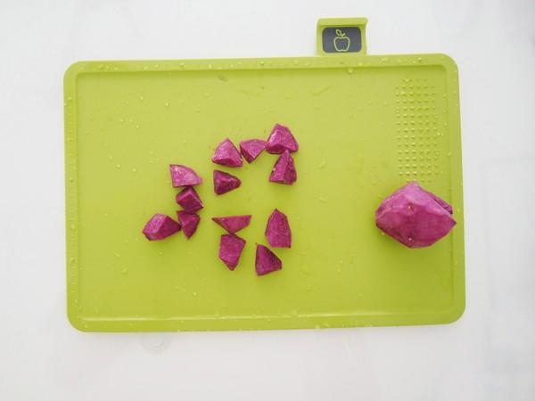 紫薯腰果米糊的做法图解