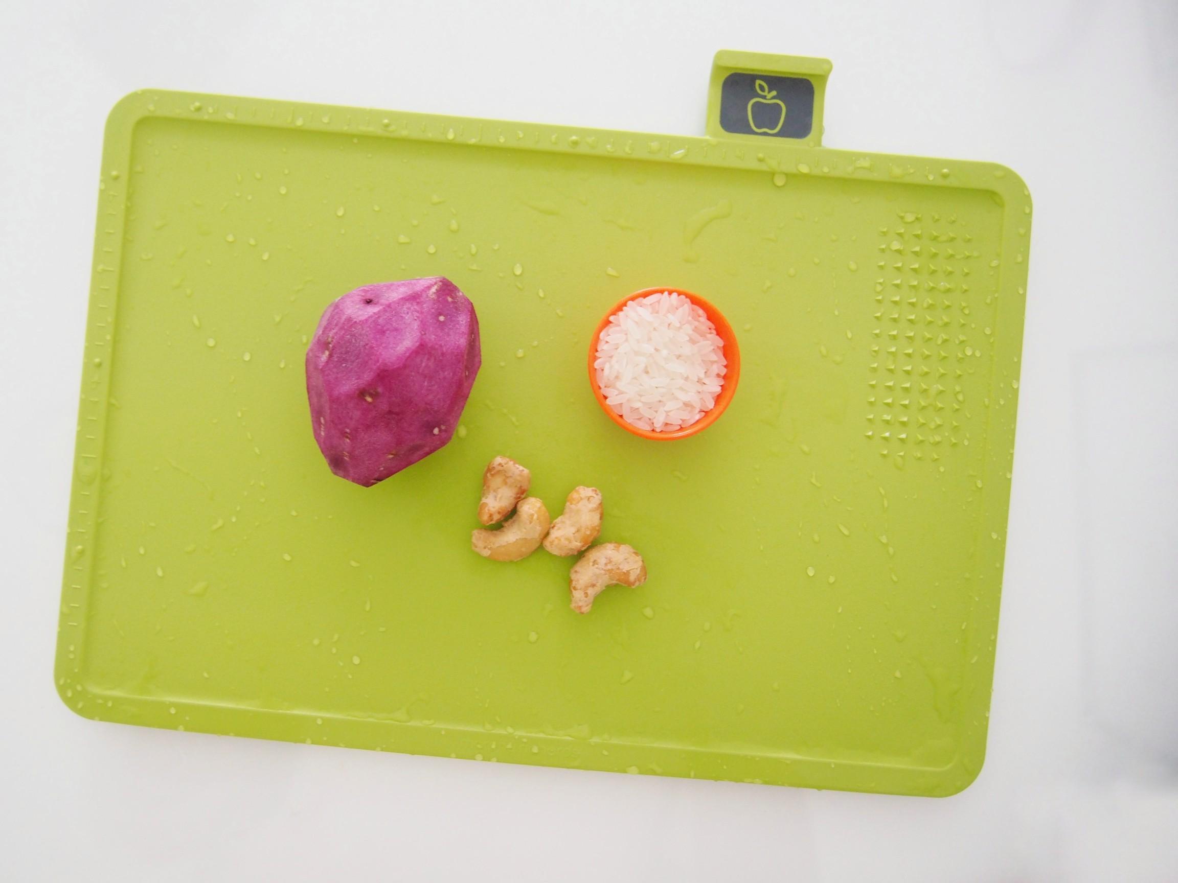 紫薯腰果米糊的做法大全