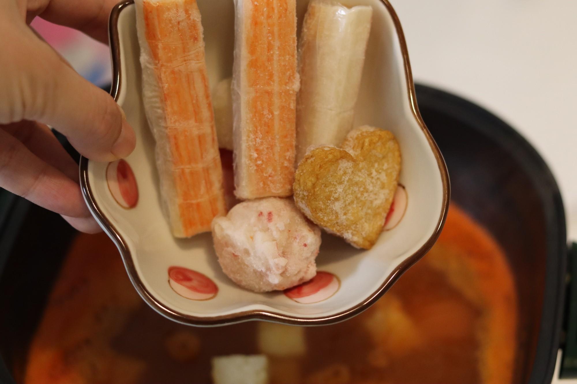 海鲜丸子番茄面怎么吃