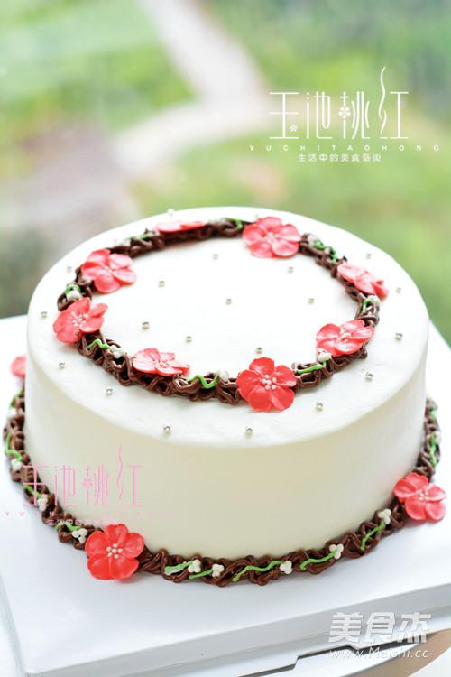 小红花环蛋糕的做法大全