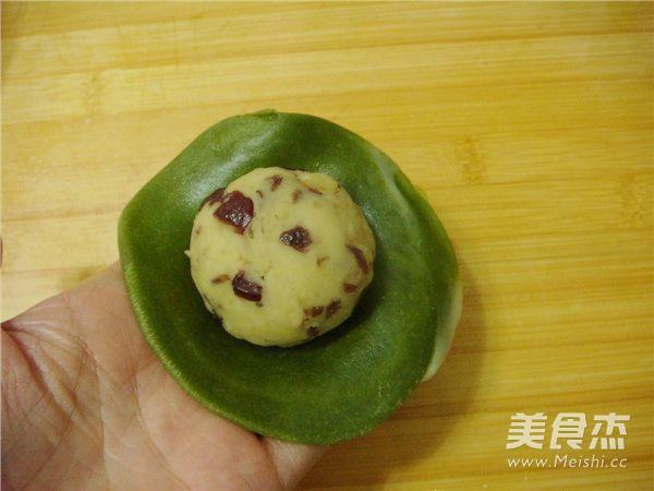 抹茶绿豆蔓越莓酥怎样煸