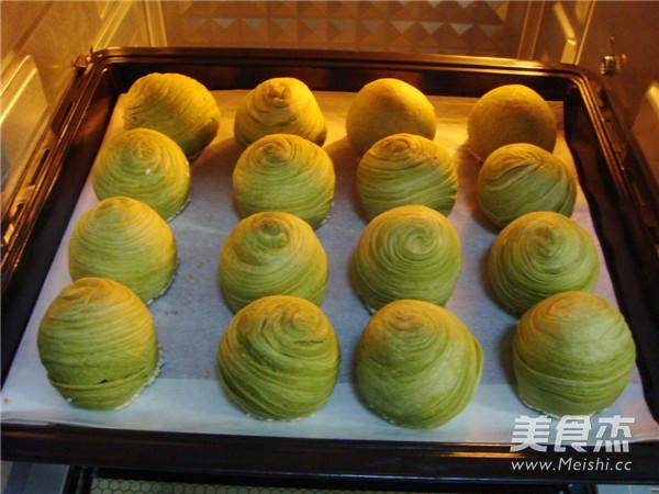 抹茶绿豆蔓越莓酥的制作