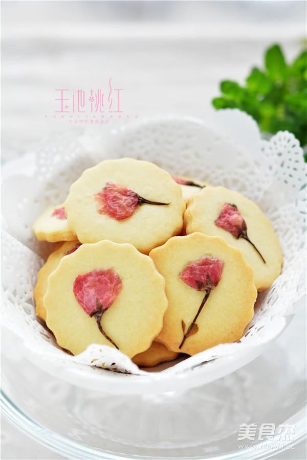 颜值爆表的樱花饼干成品图