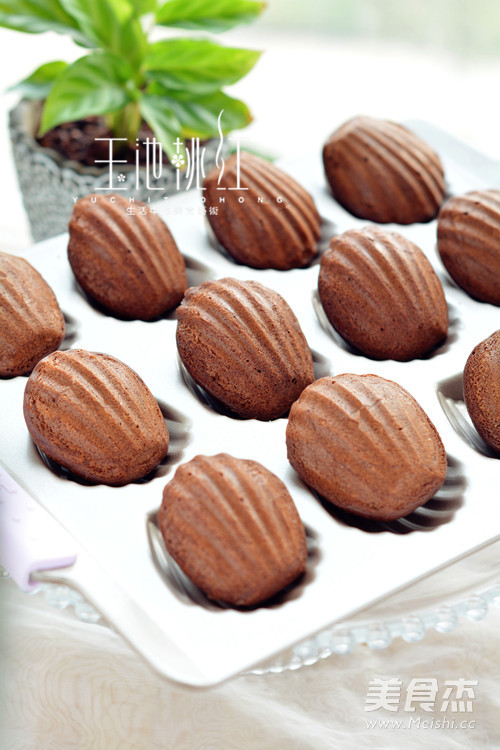 巧克力玛德琳成品图